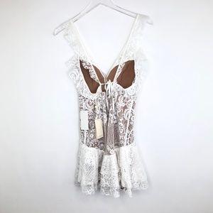 For Love And Lemons Dresses - NWT FOR LOVE & LEMONS Tati Lace Ruffle Dress #TT13